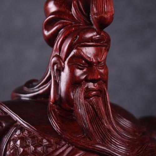 1米紫檀木雕关公价格