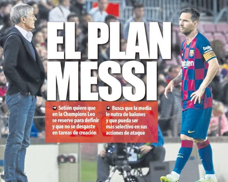 """塞蒂恩制定""""梅西计划""""    希望中场球员能多给梅西传球"""