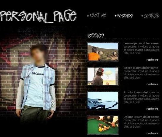 个人网页设计